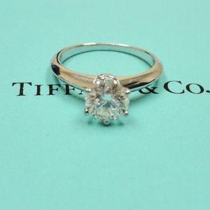 Tiffany & Co PLAT Diamond Engagement Ring